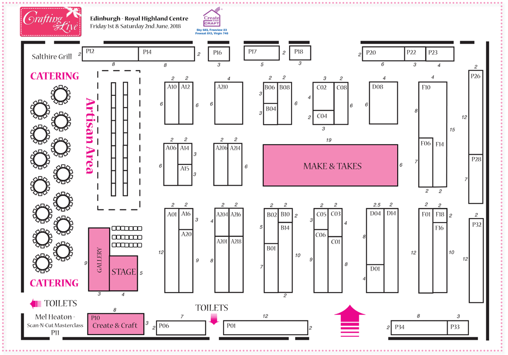 Edinburgh Jun 2018 Show Plan